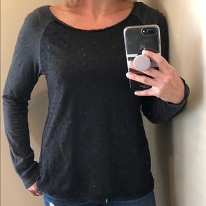 Long Sleeve Shirt with Polka-dot Overlay